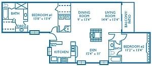 1,421 sq. ft. Ace floor plan