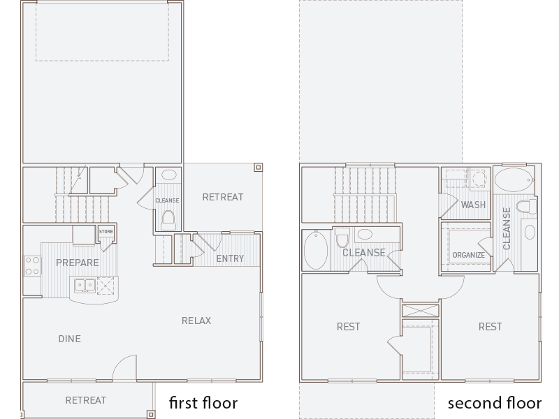 1,499 sq. ft. B4TH-P floor plan