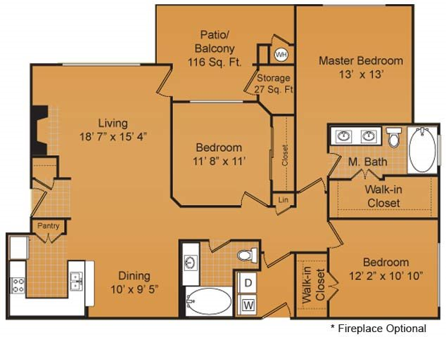 1,362 sq. ft. C1 floor plan
