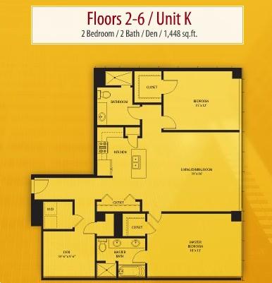 1,448 sq. ft. K floor plan