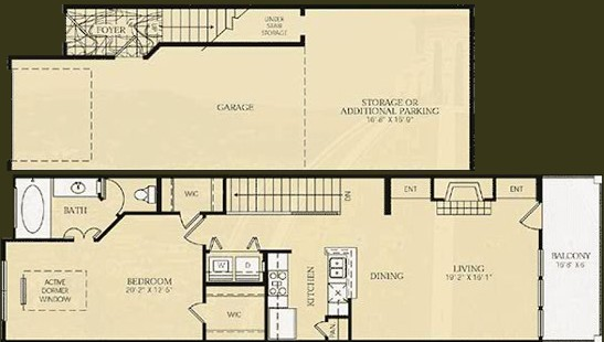 941 sq. ft. A5 - SEURAT floor plan