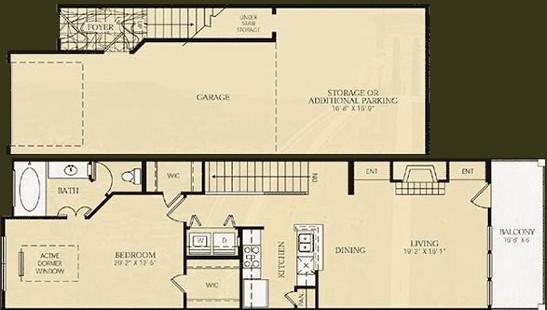 941 sq. ft. A5 - Seuart floor plan