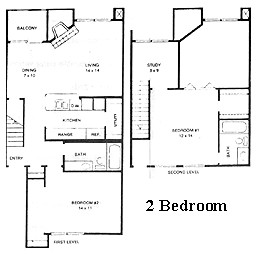 1,116 sq. ft. Bent Tree floor plan