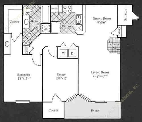 1,004 sq. ft. LILY floor plan