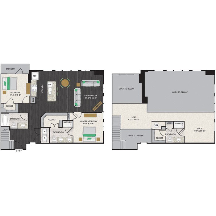 1,690 sq. ft. B3-M floor plan