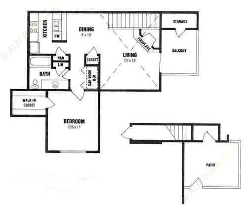 1,290 sq. ft. D3-VILLA floor plan