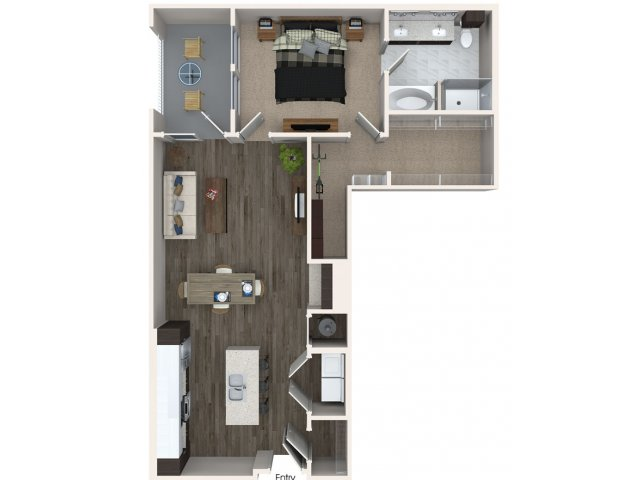 946 sq. ft. A4 floor plan