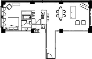 925 sq. ft. floor plan
