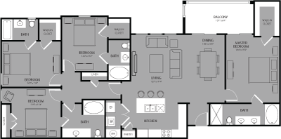 1,850 sq. ft. Rockefeller floor plan