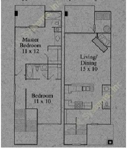 1,084 sq. ft. B floor plan
