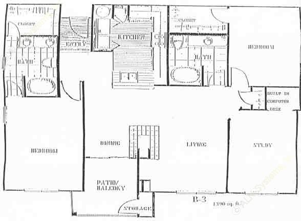1,290 sq. ft. to 1,382 sq. ft. G floor plan