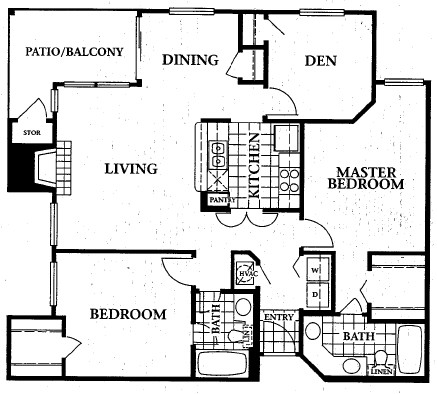 1,159 sq. ft. floor plan