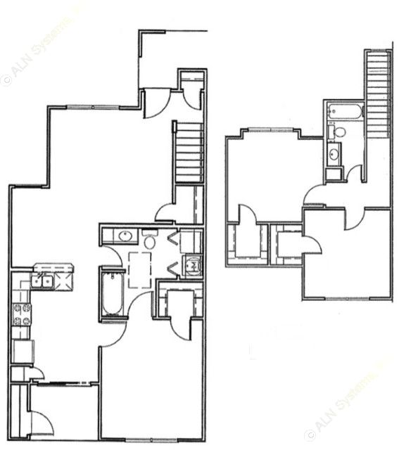 1,296 sq. ft. Trinity/60% floor plan
