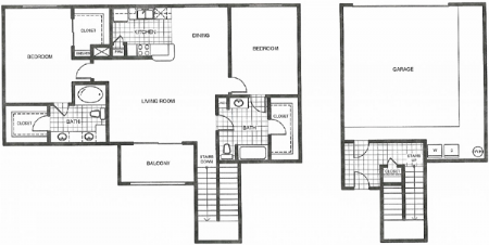 1,259 sq. ft. G2 floor plan