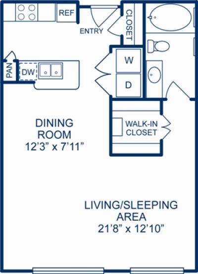 707 sq. ft. ANNAPOLIS floor plan