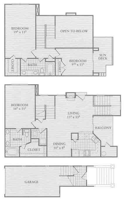 1,315 sq. ft. C1 floor plan