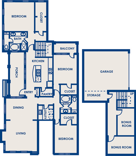2,112 sq. ft. 32F floor plan