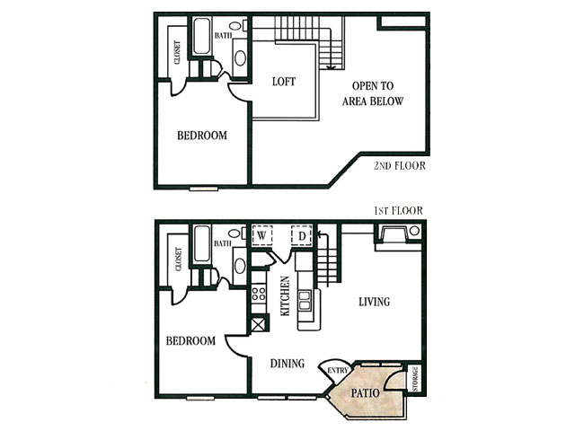 996 sq. ft. floor plan