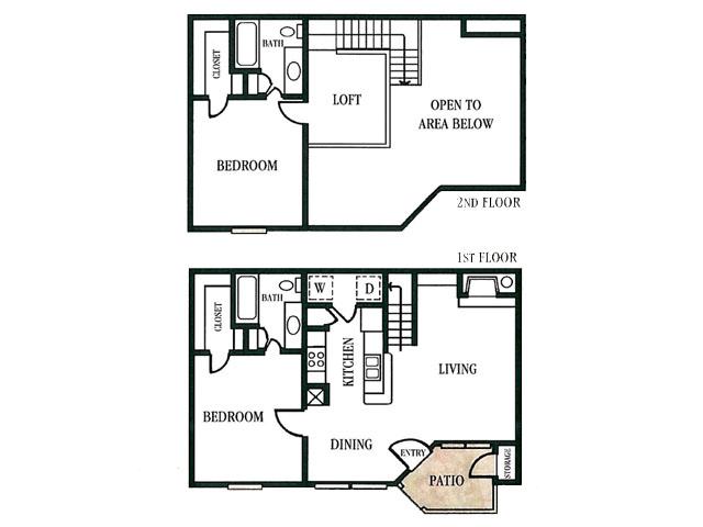 996 sq. ft. floor plan