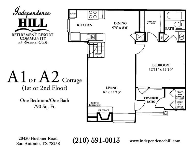 790 sq. ft. Cottage floor plan