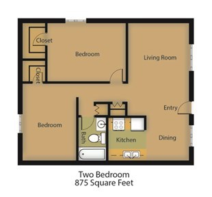 657 sq. ft. Ash floor plan