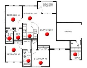 1,190 sq. ft. B floor plan