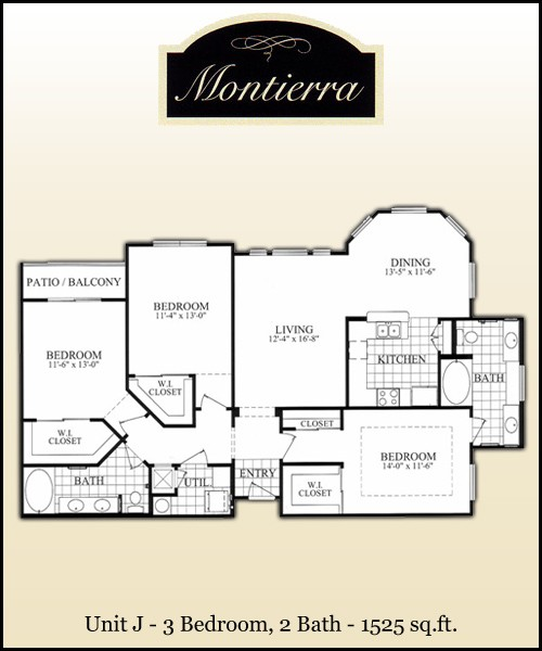 1,525 sq. ft. J floor plan