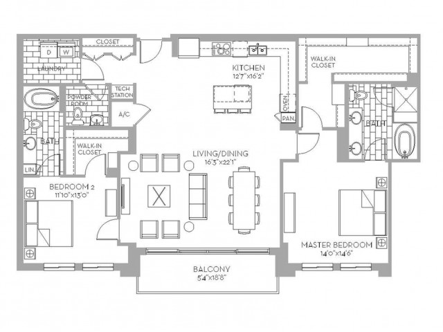 1,721 sq. ft. Preston(B.2) floor plan