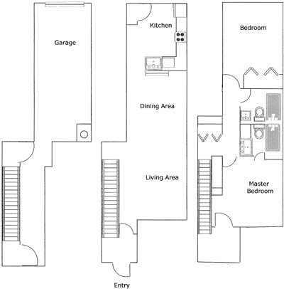 1,008 sq. ft. GALICENO 50% floor plan