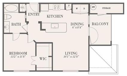 720 sq. ft. Brazoria floor plan