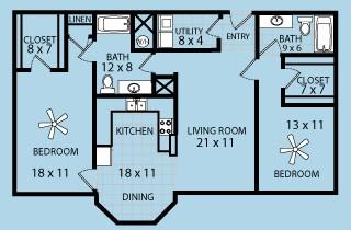1,322 sq. ft. floor plan