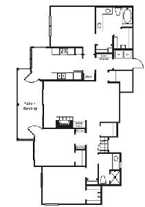 1,554 sq. ft. C1 floor plan