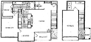 1,082 sq. ft. F floor plan