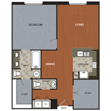 1,095 sq. ft. A10 floor plan