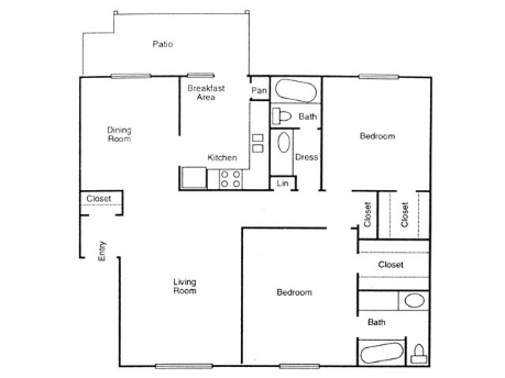 1,146 sq. ft. Spruce floor plan
