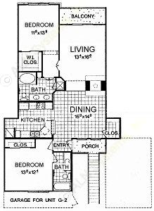 1,323 sq. ft. B6 floor plan