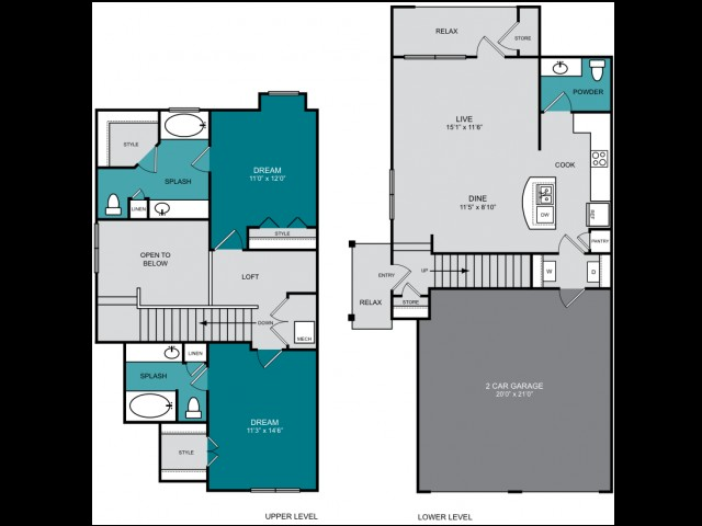 1,316 sq. ft. B1 TH PALOMAR floor plan