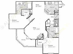 1,137 sq. ft. GLEN ABBEY floor plan