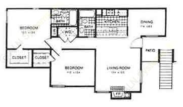 1,000 sq. ft. La Costa floor plan