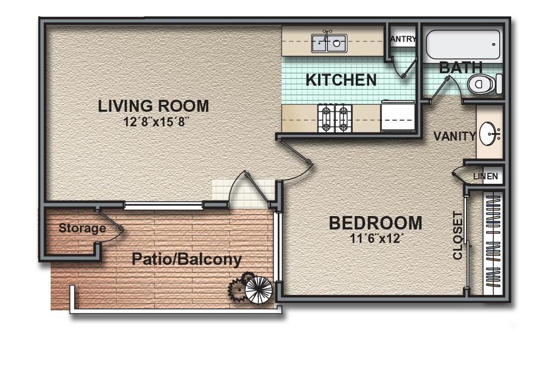 481 sq. ft. floor plan