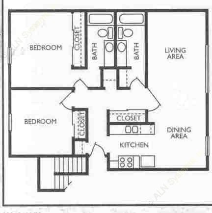 1,081 sq. ft. Director floor plan