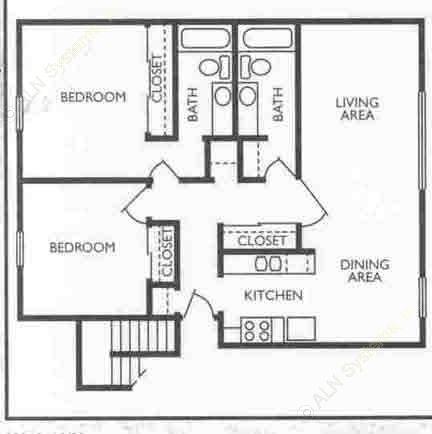 1,081 sq. ft. Director floor plan