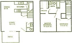 966 sq. ft. Maple floor plan