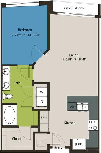 788 sq. ft. A8H floor plan