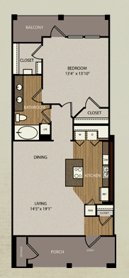 832 sq. ft. A5 floor plan