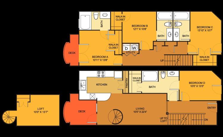 1,689 sq. ft. TOWN floor plan