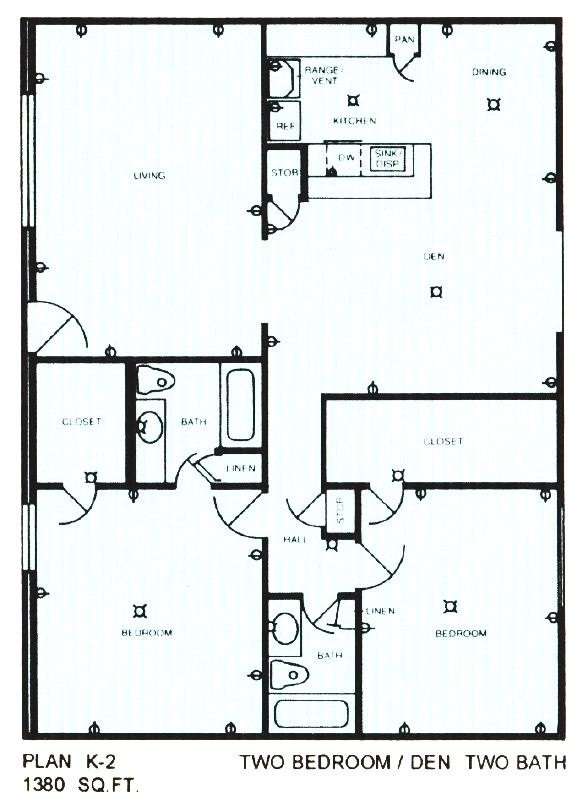 1,380 sq. ft. floor plan