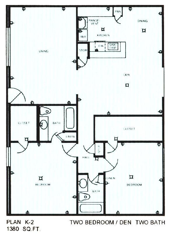 1,380 sq. ft. floor plan