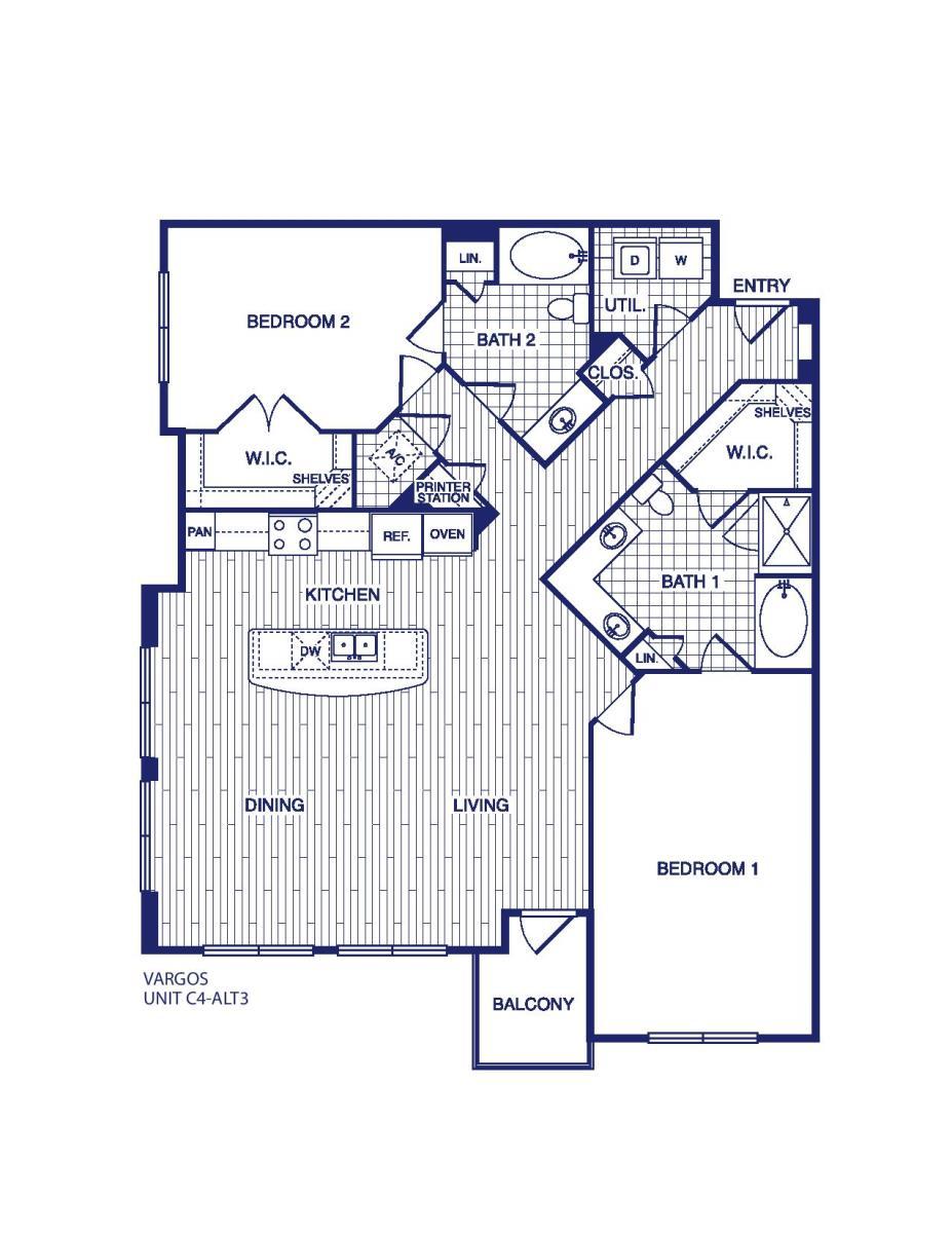 1,480 sq. ft. C4 ALT 3 floor plan