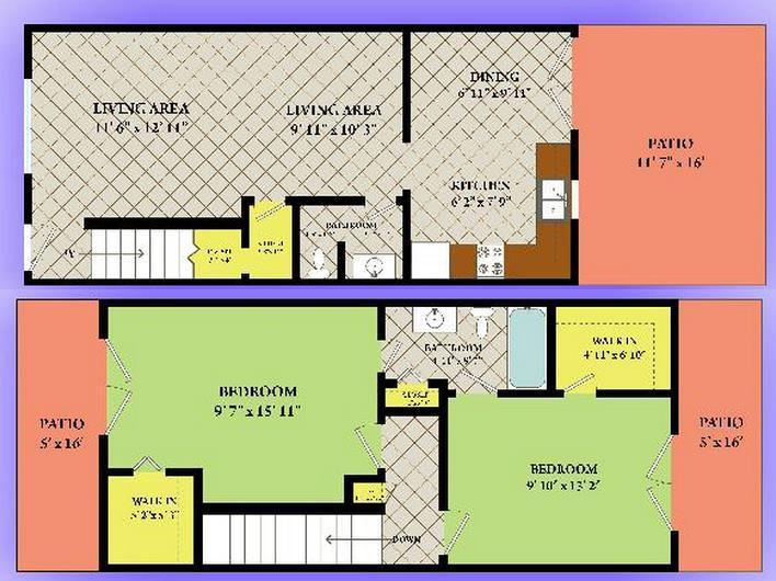 1,323 sq. ft. floor plan
